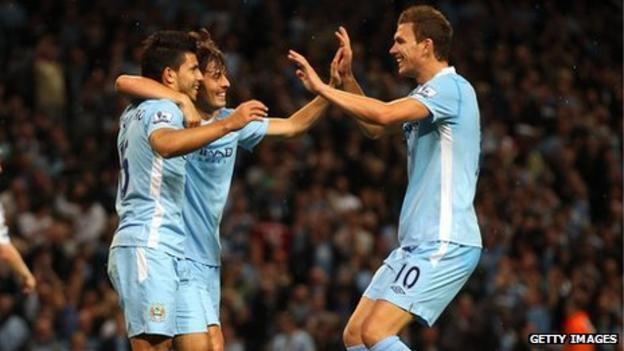 Aguero, Silva and Dzeko