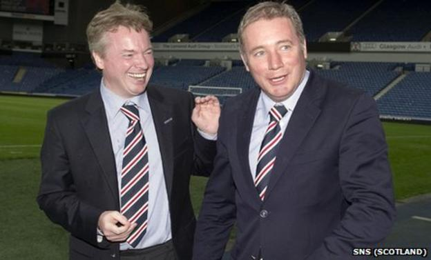 Rangers owner Craig Whyte (left) with manager Ally McCoist