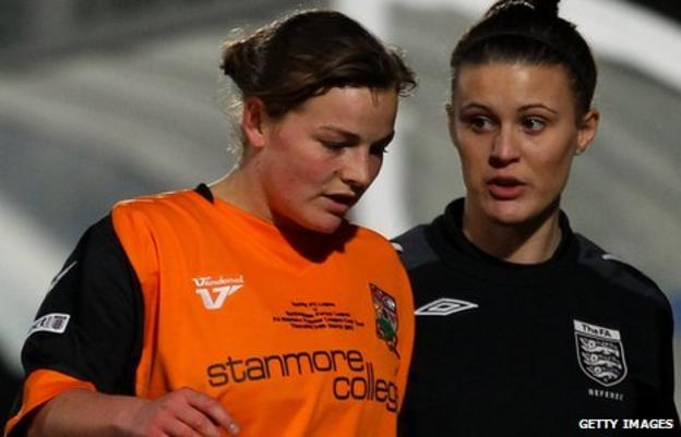Barnet's Stacey Sowden scored against Aston Villa