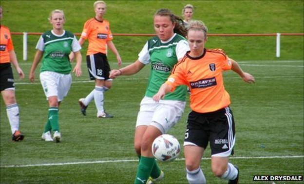 Hibernian play Glasgow City in the Scottish Women's Premier League