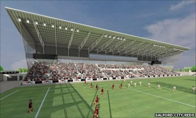 Drawing of Salford community stadium
