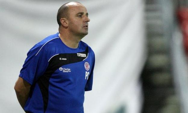 Sligo Rovers manager Paul Cook is a target for St Johnstone