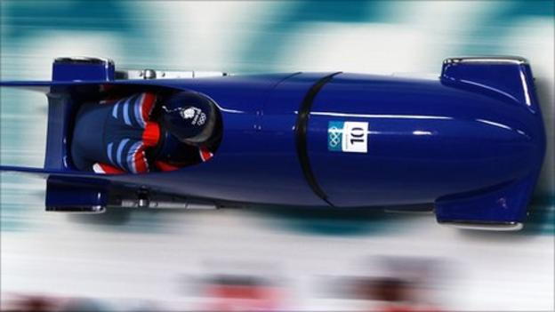 GB women's bobsleigh in action at the 2010 Games