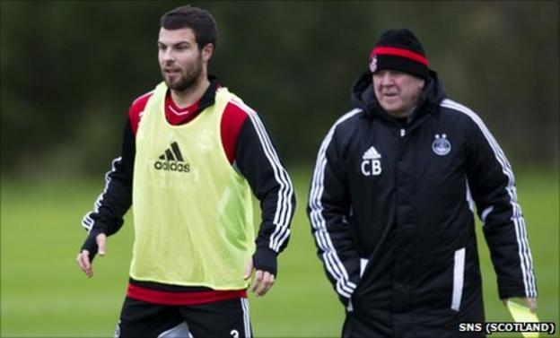 Aberdeen captain Richard Foster and manager Craig Brown