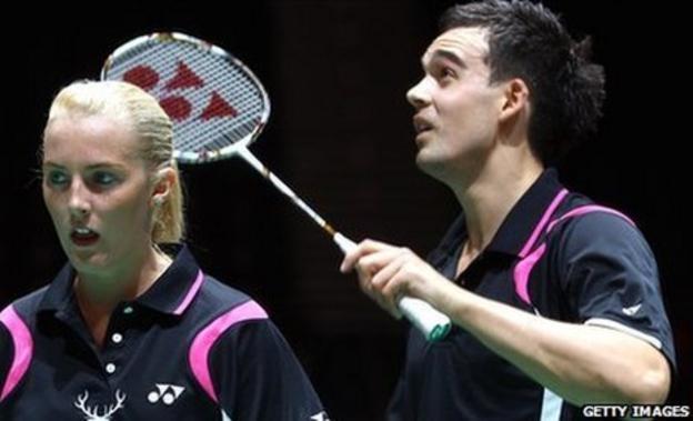 Badminton players Imogen Bankier and Chris Adcock