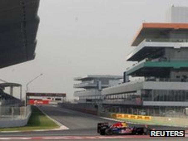 The Indian Grand Prix circuit