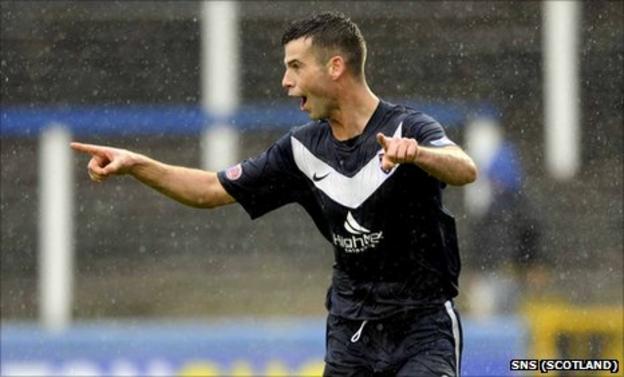 Ross County midfielder Stuart Kettlewell