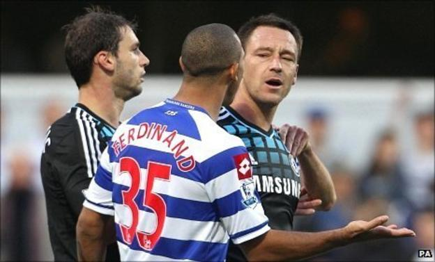 Branislav Ivanovic, Anton Ferdinand and John Terry