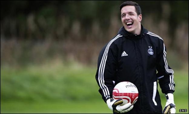 Jamie Langfield is back enjoying training