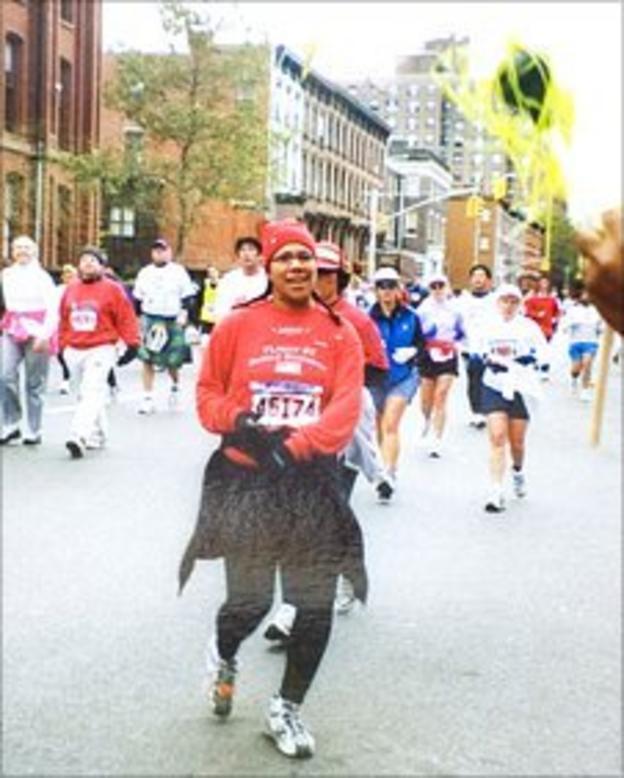 Kiki Homer ran her first marathon in 2002