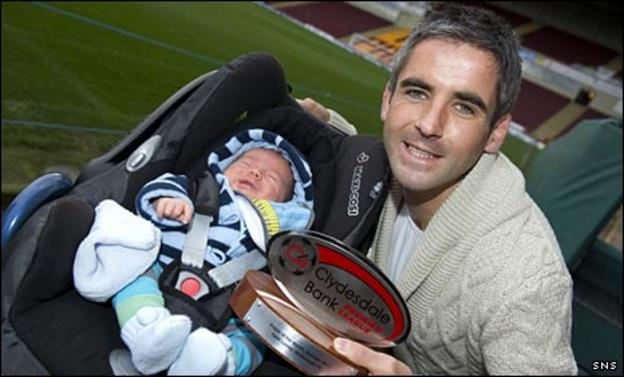 Keith Lasley and son Alfie