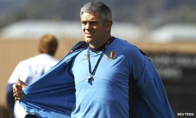 Nick Mallett trains Italy