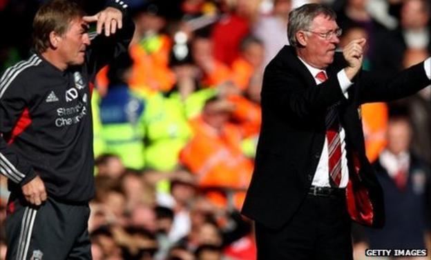 Kenny Dalglish (left) and Sir Alex Ferguson