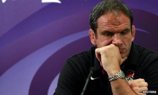 England manager Martin Johnson