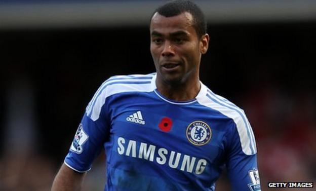 Ashley Cole in action for Chelsea against Arsenal