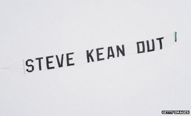 Steve Kean banner