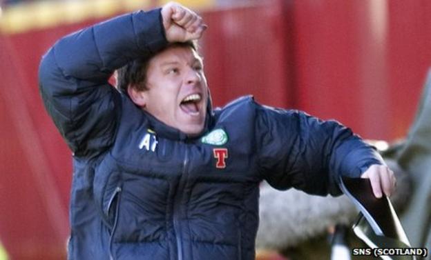 Celtic coach Alan Thompson