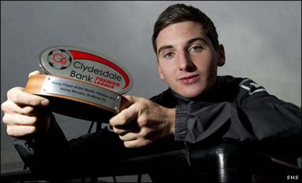 Kenny McLean with his award