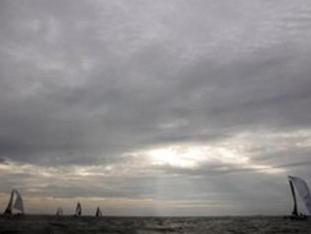 Sailors at the Transat Jacques Vabre race