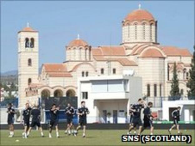 The Scotland training camp in Limassol