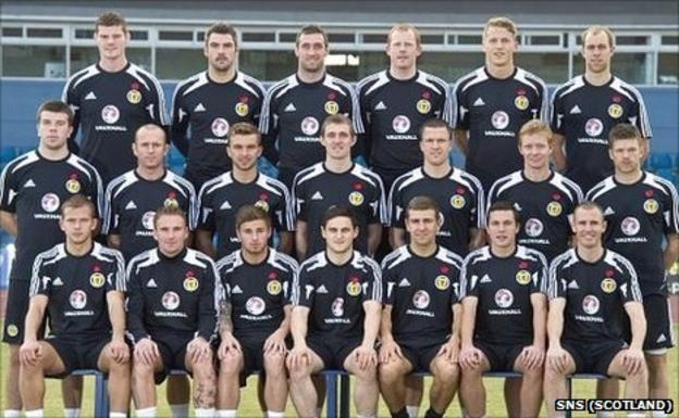 The Scotland squad in Cyprus