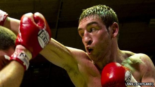 Scottish boxer Alex Arthur