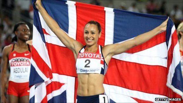 British heptathlete Jessica Ennis