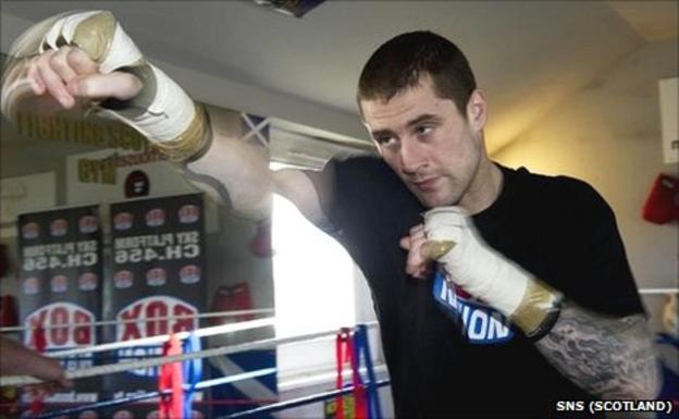 WBO interim lightweight champion Ricky Burns