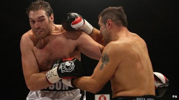 Tyson Fury (left) and Neven Pajkic