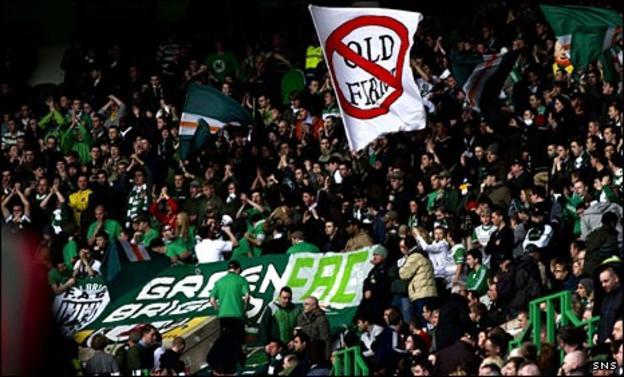 The Green Brigade at Celtic Park