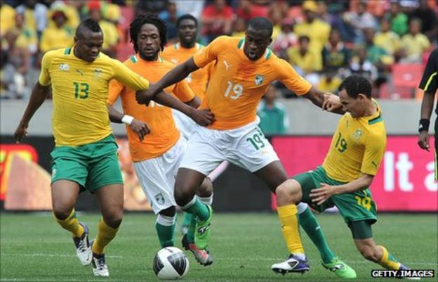 South Africa's friendly with Ivory Coast