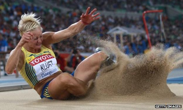 Carolina Kluft switched from heptathlon to the long and triple jumps three years ago