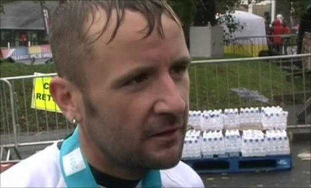 Rob Sloan during a post-race interview