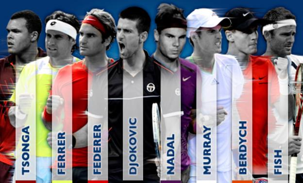 The top eight players line up for the ATP World Tour Finals