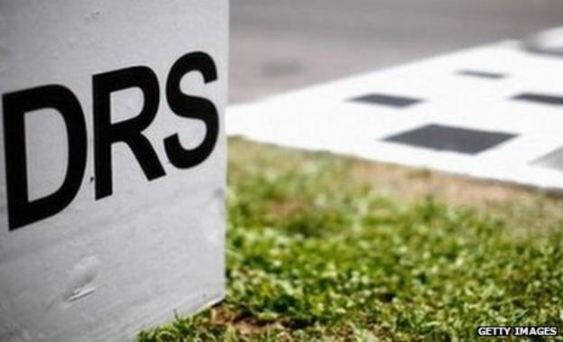 DRS activation zone marker is seen before the Spanish Formula One Grand Prix at the Circuit de Catalunya on May 22, 2011 in Barcelona, Spain