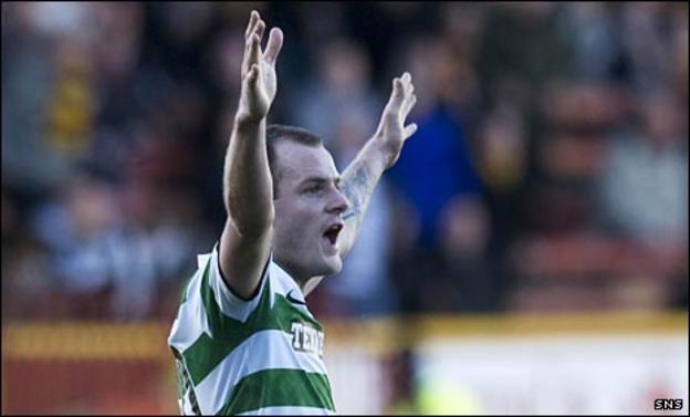 Anthony Stokes celebrates