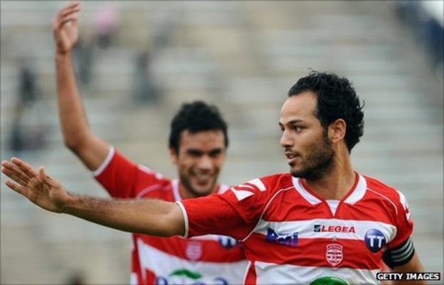 Club Africain and Tunisia's Zouhaier Dhaouadi