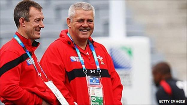 Rob Howley and Warren Gatland