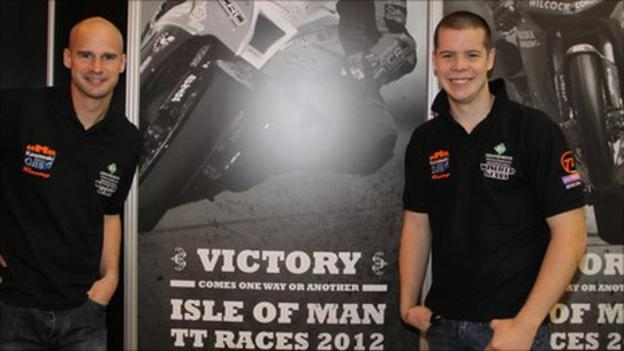KMR Kawasaki boss Ryan Farquhar with Ballymena rider Jamie Hamilton