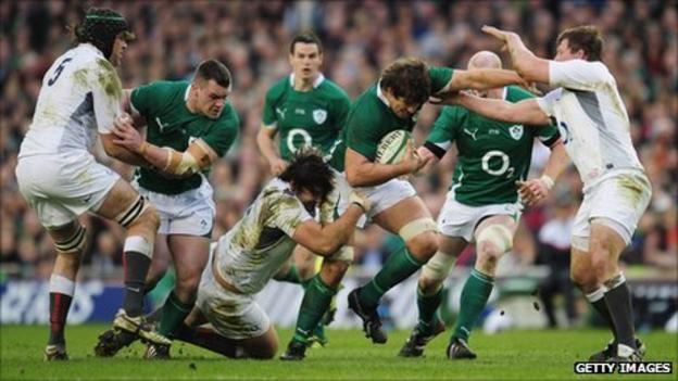 Ireland against England in 2011 Six Nations