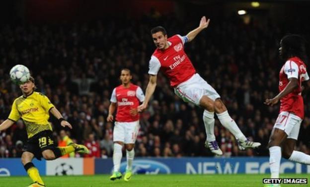Arsenal captain Robin van Persie