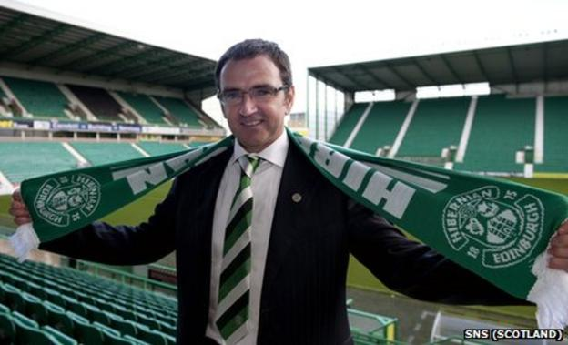 Pat Fenlon is the new manager at Hibernian
