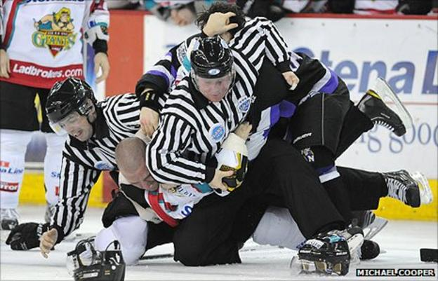 Benoit Doucet suffered ligament damage after clashing with Braehead's Sam Zajac