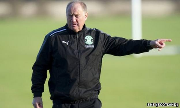 Hibernian assistant manager Billy Brown