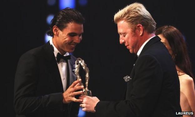 Rafael Nadal and Boris Becker