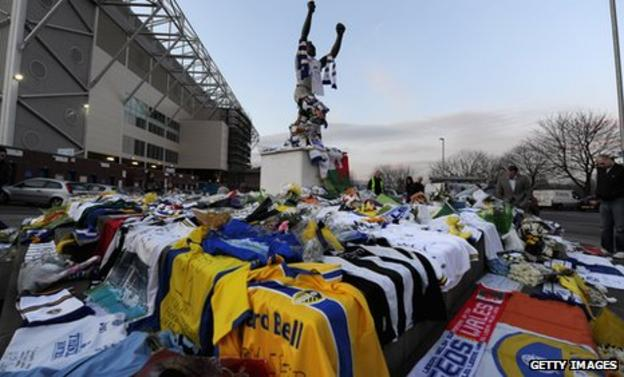 Supporters around the country have been paying tributes to Gary Speed, similar to this one at Elland Road - the player's first club