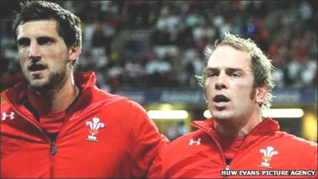 Luke Charteris and Alun Wyn Jones