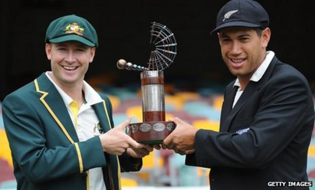 Australia captain Michael Clarke and New Zealand skipper Ross Taylor