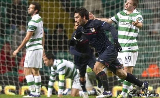 Turan scores the winner against Celtic