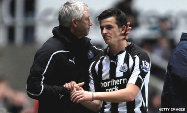 Alan Pardew and Joey Barton